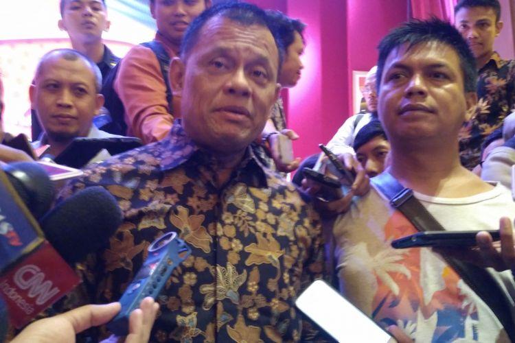Mantan Panglima TNI Jenderal (Purn) Gatot Nurmantyo di Perpustakaan Nasional, Jakarta, Rabu (25/4/2018).