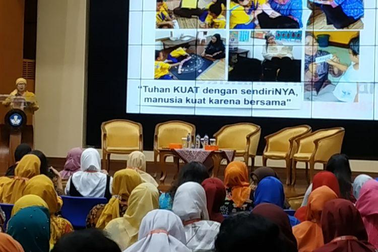 Suasana Lokakarya Nasional dalam Rangka Hari Guru Sedunia 2018, Selasa (2/10/2018), di Kementerian Pendidikan dan Kebudayaan, Jakarta.