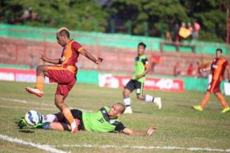 Pusamania Borneo FC menang atas PBR, Senin (31/8/2015).