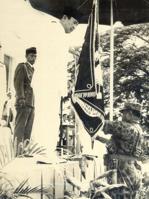 Upacara Penyerahan Panji K.K.O di Istana Merdeka Tgl. 15-11-1959