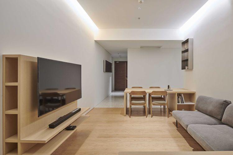 Desain interior ala Jepang di Marigold Apartment karya Design Donk