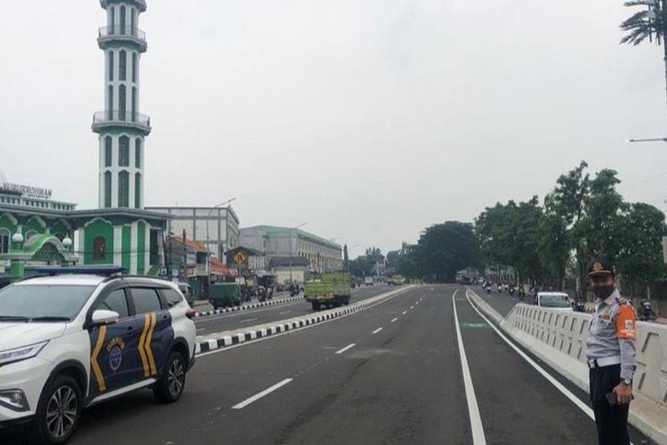 Pembangunan fisik flyover atau jalan layang Cakung, Jakarta Timur sudah rampung.