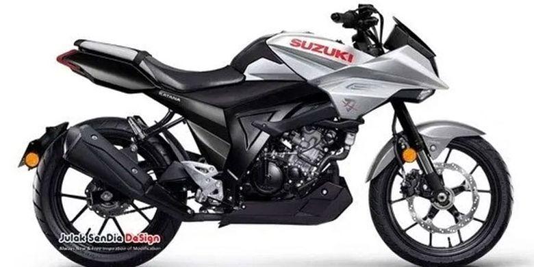 Rendering Suzuki Katana 125