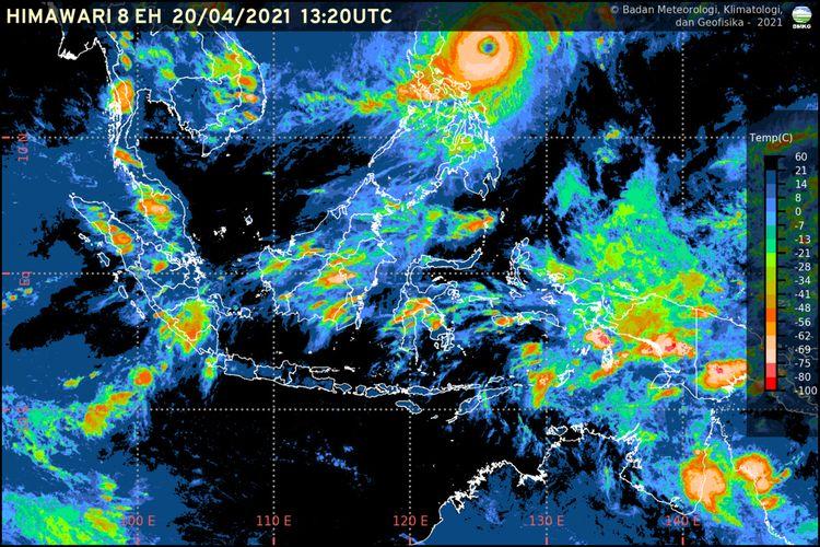 Citra satelit kondisi Badai Surigae yang dikeluarkan oleh Badan Meterologi Klimatologi dan Geofisika (BMKG). Sumber https://www.bmkg.go.id