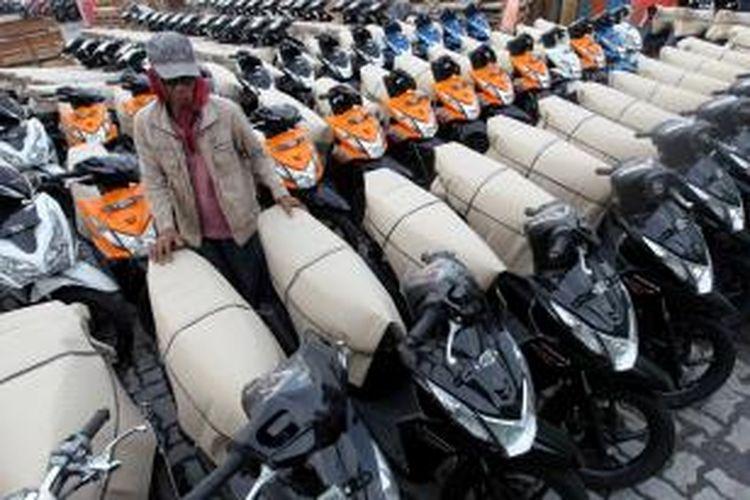 Ilustrasi penjualan sepeda motor Honda