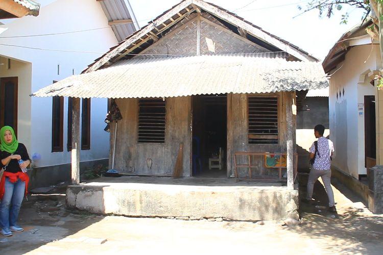 Lombok, Kompas.Com inilah tempat kediaman Lalu Muhammad Zohri, sebelum direnovasi menjadi lebih bagus dan layak bagi sang juara dunia.