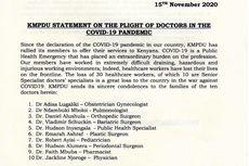 Tuntuan APD Tak Digubris Pemerintah, Dokter di Kenya Mogok Kerja