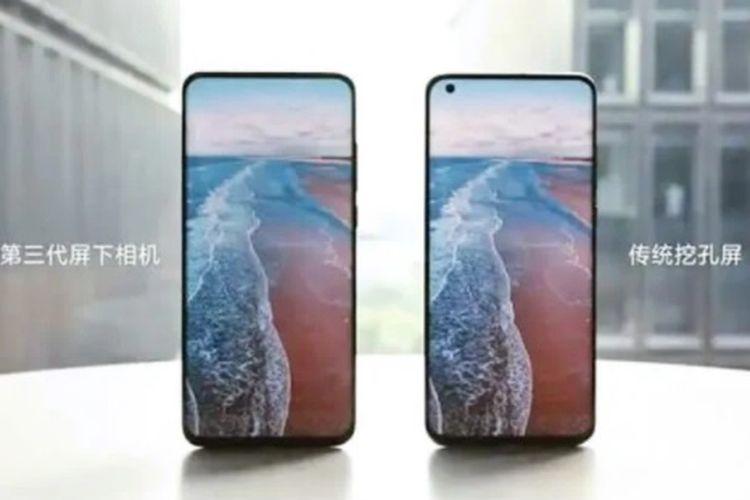 Xiaomi memamerkan ponsel dengan teknologi kamera bawah layar (under screen camera)