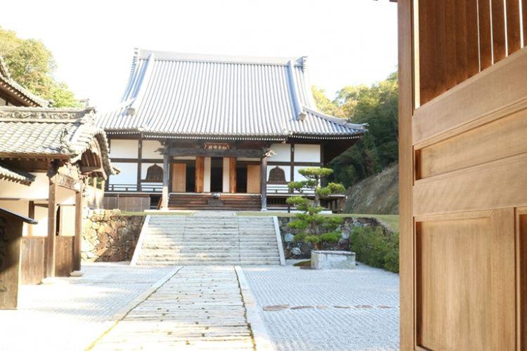 Salah satu bangunan di Shinshoji Zen di wilayah Fukuyama, Hiroshima, Jepang.