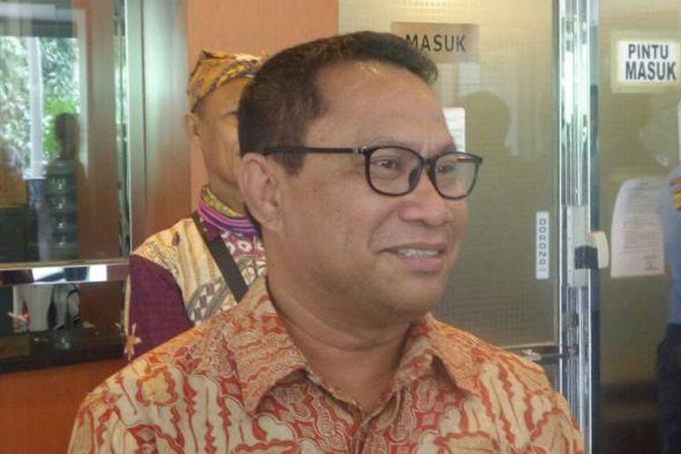 Ketua Komisi V DPR dari Fraksi Partai Gerindra, Fary Djemi Francis di Kompleks Parlemen, Senayan, Jakarta, Selasa (29/11/2016)