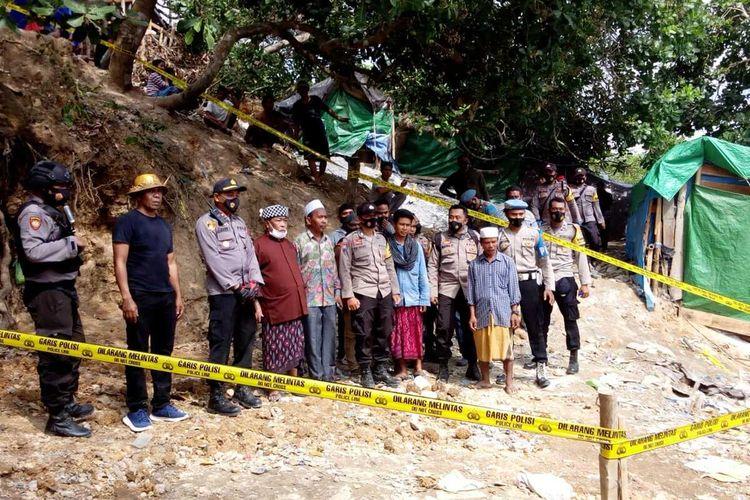 suasana penutupan tambang emas ilegal Sekotong, Lombok Barat