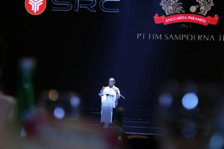 Menteri Ketenagakerjaan (Menaker) Hanif di acara Pesta Retail Nasional yang diselenggarakan PT HM Sampoerna di Serpong, Tangerang, Kamis (22/11/2018) malam.