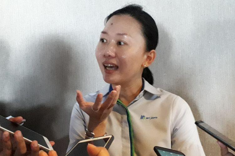 Direktur Konstruksi PT MRT Silvia Halim, Kamis (26/7/2018)