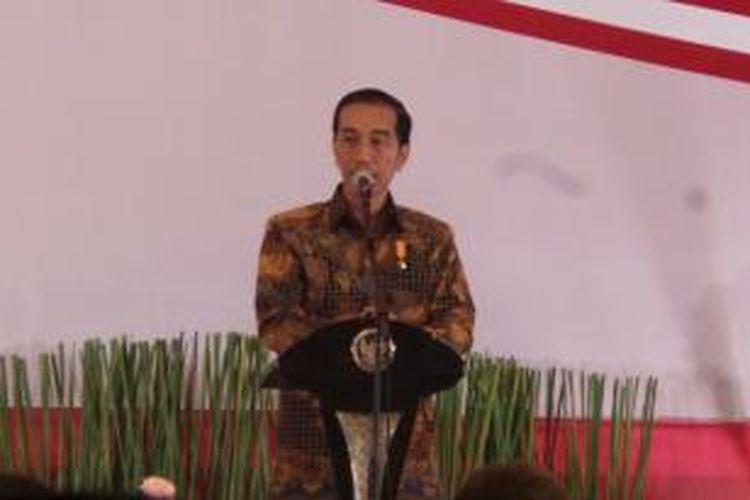 Presiden Joko Widodo dalam Musyawarah Rencana Pembangunan Nasional di Gedung Bidakara, Jakarta, Rabu (28/4/2015).