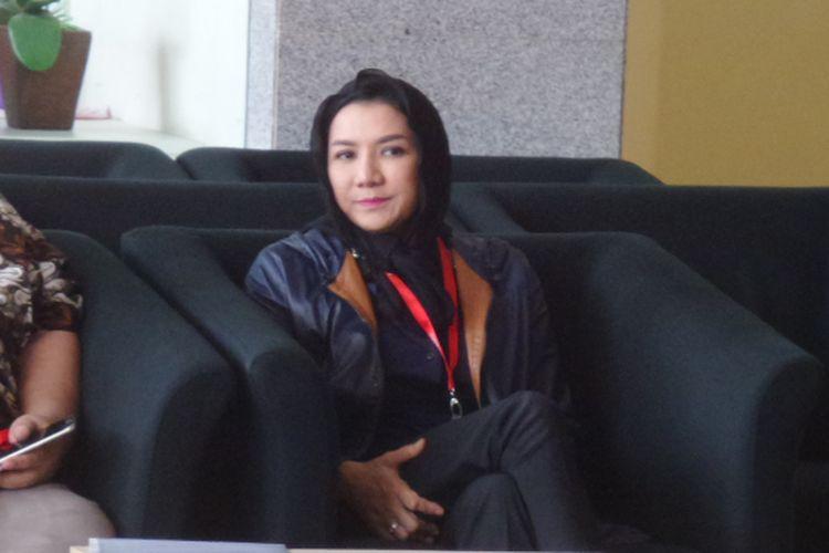 Bupati Kutai Kartanegara Rita Widyasari di Gedung KPK Jakarta, Jumat (6/10/2017).