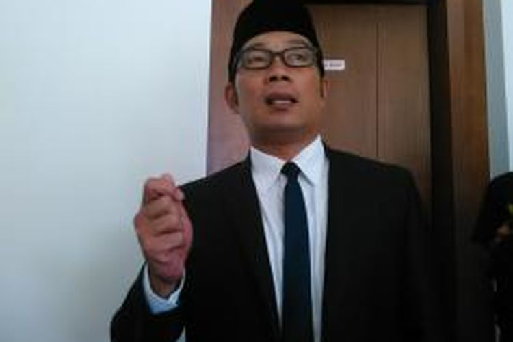 Wali Kota Bandung Ridwan Kamil saat ditemui wartawan usai menggelar rapat pimpinan di Balai Kota Bandung, Selasa (8/9/2015).