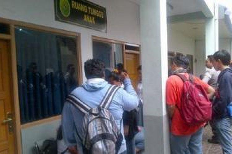 Susana sidang kasus tewasnya siswa SMAN 3 Jakarta di Pengadilan Negeri Jakarta Selatan, Selasa (26/8/2014).