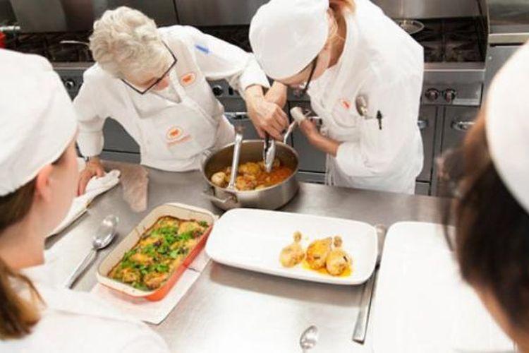 Ilustrasi sekolah kuliner.