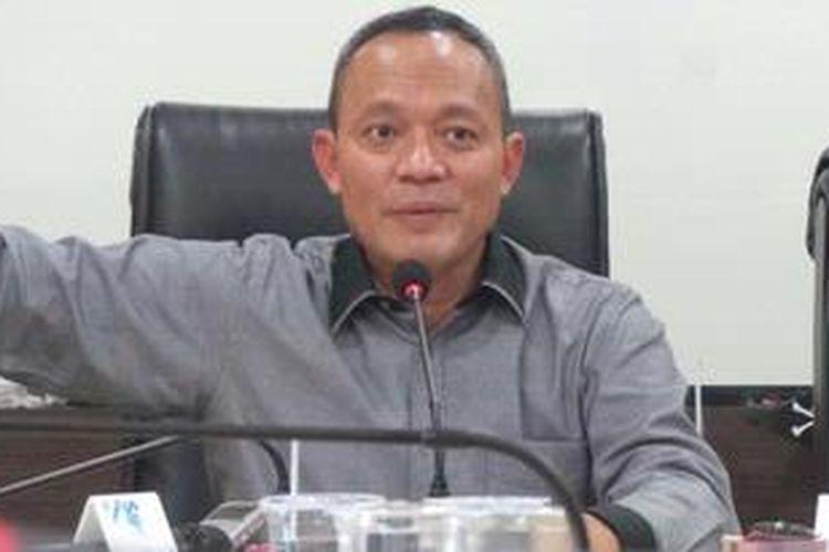 Direktur Tindak Pidana Ekonomi Khusus Bareskrim Polri Brigadir Jenderal (Pol) Arief Sulistyanto di Bareskrim Polri, Jakarta Selatan, Kamis (16/5/2013).
