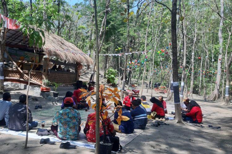 Suasana Agrowisata Lereng Katresnan Mojorejo, Klaten, Jawa Tengah.