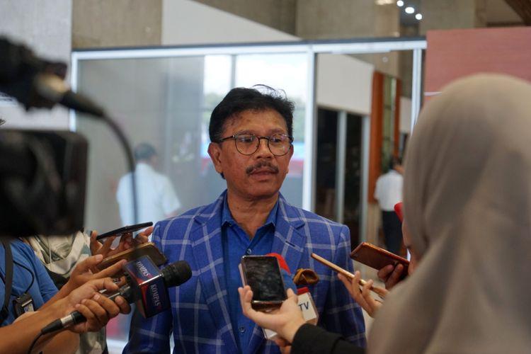Tim Kampanye Nasional (TKN) Jokowi-Ma'ruf, Johnny G Plate, saat ditemui di Kompleks Parlemen, Senayan, Jakarta, senin (11/2/2019).