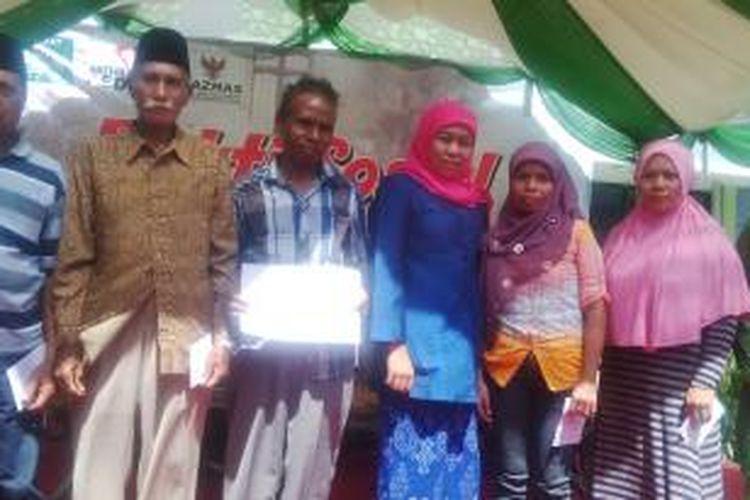 Menteri Sosial Khofifah di Kantor Baznas Kalimantan Timur, di Samarinda.