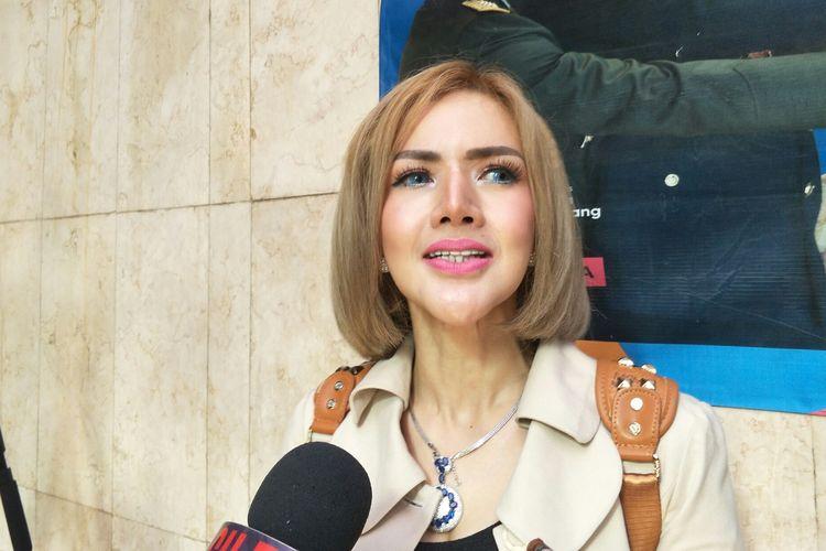 Barbie Kumalasari saat ditemui di Polda Metro Jaya, Jakarta Selatan, Senin (29/7/2019).