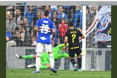 Sampdoria Vs Inter Milan, Gol dan Kartu Merah Perdana Alexis Sanchez