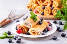 Resep Pancake Gulung Pakai Susu Non-fat, Sarapan Jajanan Sehat