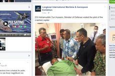 Pesawat Tim Jupiter TNI AU yang Jatuh Timpa Mobil, Beruntung Tak Ada Korban