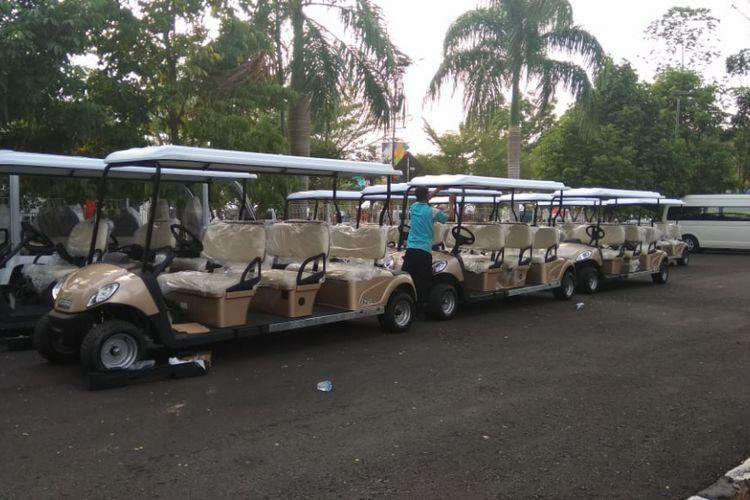 Sebanyak 60 golf car disiapkan di kompleks olahraga Jakabaring Sport City (JSC) Palembang, Sumatera Selatan untuk mengangkut para tamu, atlet maupun official Asian Games. Kompleks Jakabaring dinyatakan steril dari kendaraan berbahan bakar BBM ketika perhelatan pesta olahraga se Asia tersebut berlangsung, Kamis (16/8/2018)