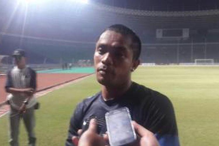 Gelandang tim nasional Indonesia, Zulham Zamrun.