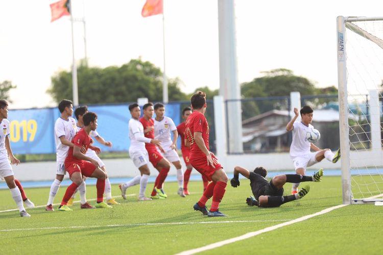 Laga Timnas U23 Indonesia vs Laos, di Stadion Imus, Filipina, Kamis (5/12/2019)
