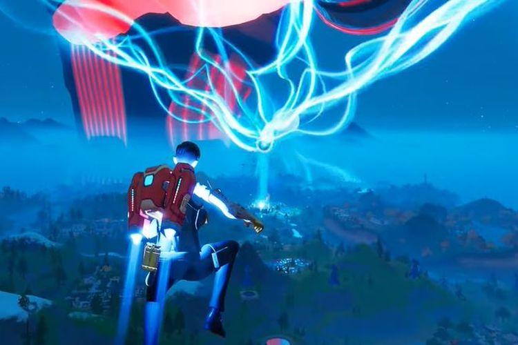 Pulau Fortnite dilindungi oleh bola listrik yang menghadang Galactus.