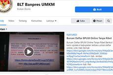[HOAKS] Halaman Facebook BLT Banpres UMKM dari Kemenkop UKM