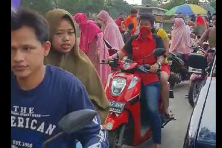 Kondisi di Pasar Kemiri, Kembangan Utara, Jakarta Barat, Sabtu (4/4/2020) kemarin.