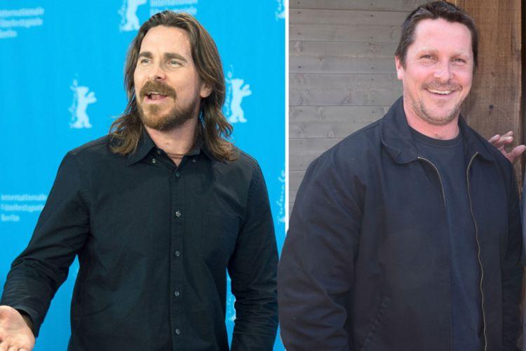 Christian Bale tahun 2015 (kiri) dan saat ini, September 2017
