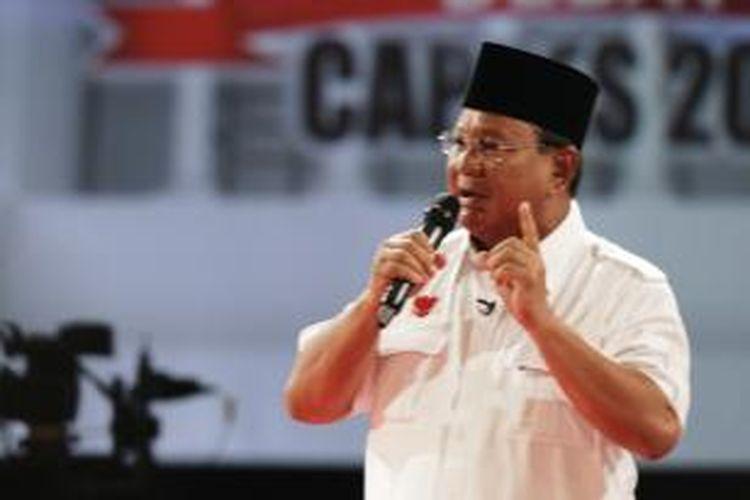 Calon Presiden nomor urut 1 Prabowo Subianto