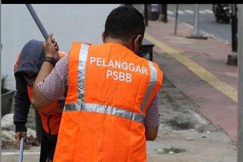 300 Warga Tak Pakai Masker di Depok Dihukum Bersihkan Jalan