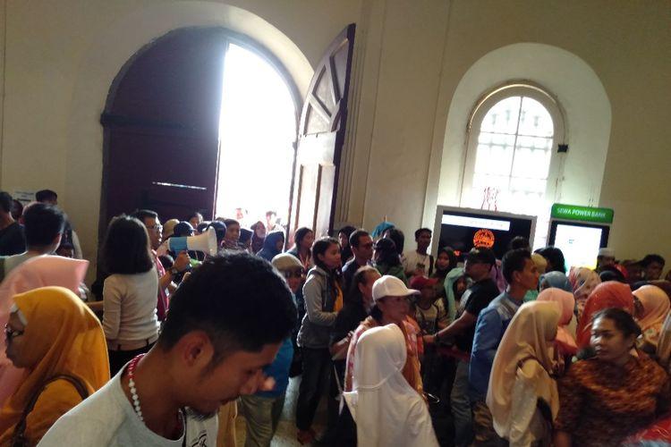 Museum Fatahillah Ramai dikunjungi Wisatawan, Sabtu (8/6/2019)