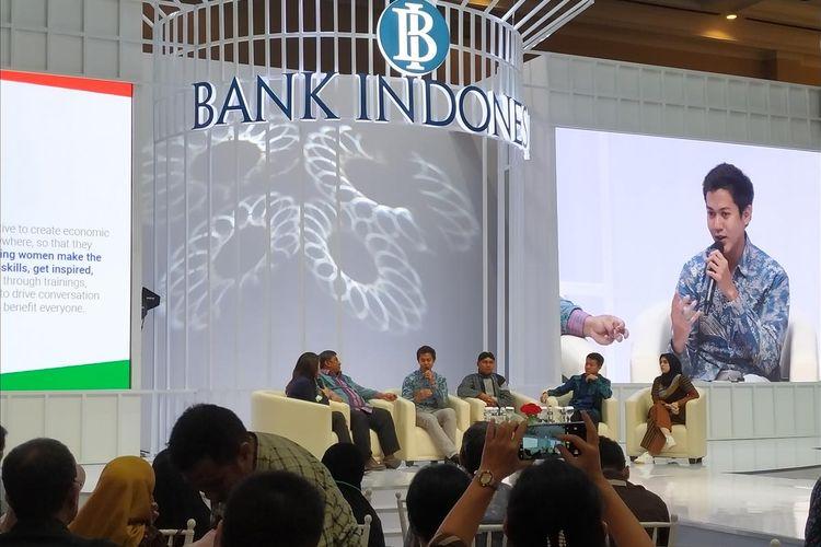 Analis Senior Google Indonesia bagian Kebijakan Publik dan Hubungan PemerintahRyan Rahardjo menjadi pembicara dalam diskusi