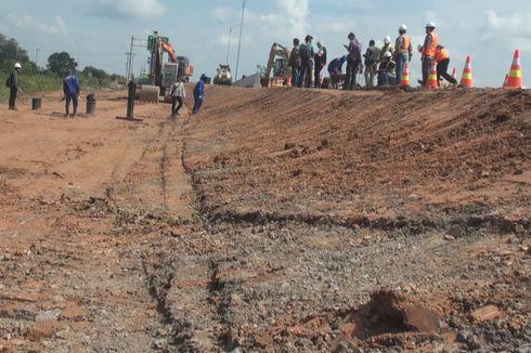 Jalan Tol Palembang-Indralaya yang Ambles Diperbaiki
