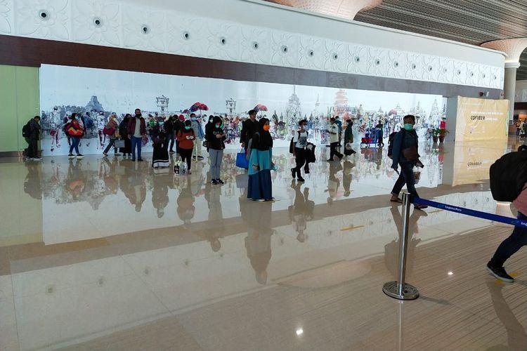 Suasana hari pertama pengoperasian New Yogyakarta International Airport (NYIA), Minggu (29/3/2020)