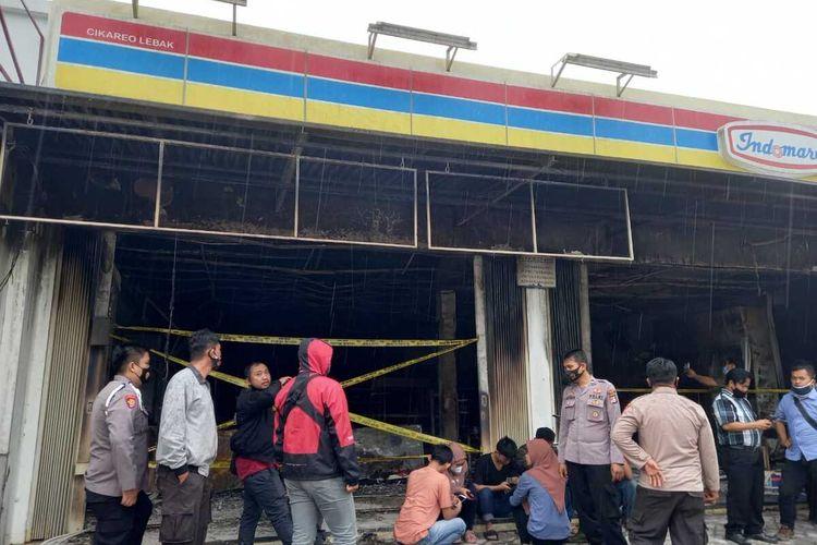 Sebuah minimarket di Lebak Banten dibakar pegawainya sendiri untuk menghilangkan jejak setelah mencuri uang Rp16.000.000, Rabu (27/1/2021)