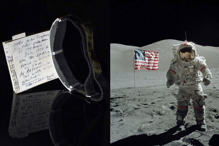 Catatan yang digunakan Gene Cernan dalam misi ke Bulan