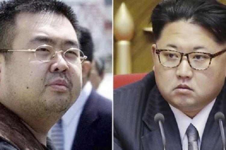 Kim Jong Nam (kiri) dilaporkan pernah disiapkan menjadi pengganti Kim Jong Il namun akhirnya Kim Jong Un yang menjadi pemimpi tertinggi Korea Utara. Kim Jong Nam tewas diduga akibat dibunuh agen mata-mata Korut.