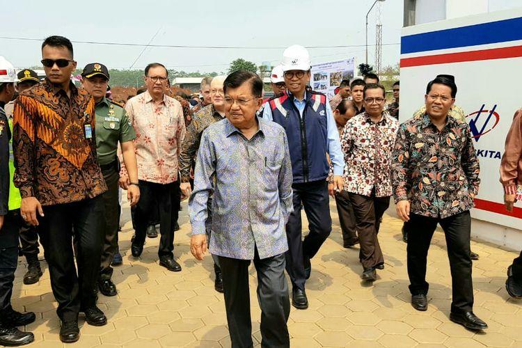Wakil Presiden Jusuf Kalla tinjau pembangunan UIII