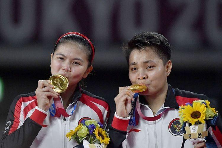 Greysia Polii dan Apriyani Rahayu berhasil mendapatkan medali emas di olimpiade 2020