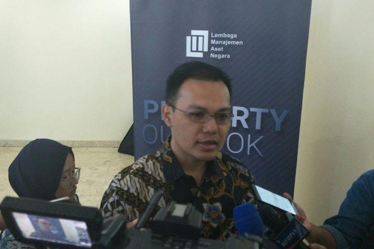 Kepala Ekonom BCA David Sumual di Kantor Kemenkeu, Jakarta, Senin (17/12/2018)