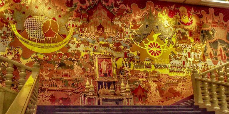 Mural di Hotel Anantara Siam, Bangkok, Thailand.